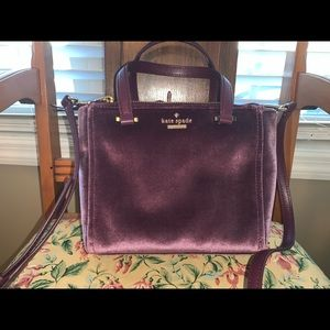 Beautiful Kate Spade Purple brushed purse